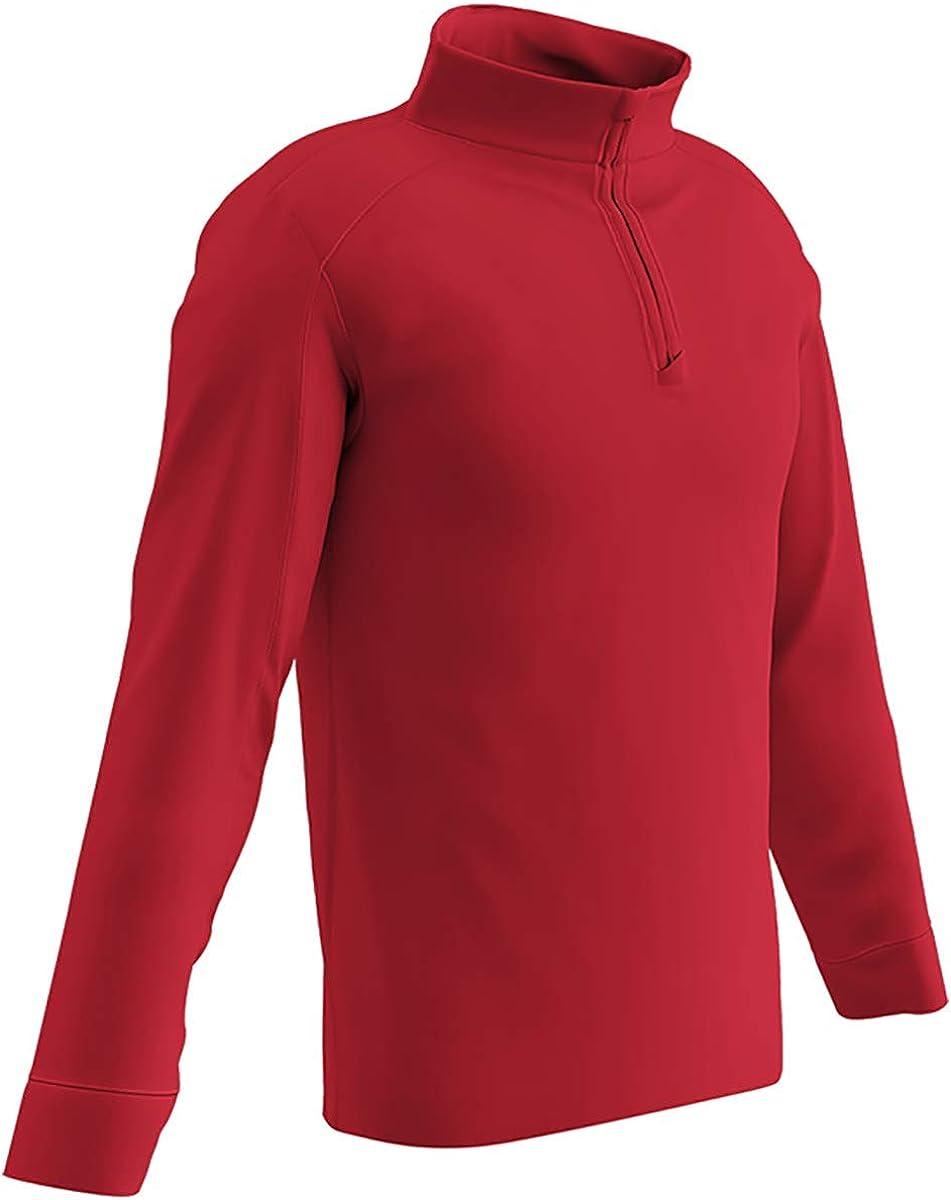 CHAMPRO Element Micro-Flex Quarter Zip Pullover Warm Up Jersey 1//4