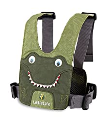 Side adjustment for secure fitting Fabric front panel for comfort Tough nylon materials and straps High quality buckles Removable safety rein