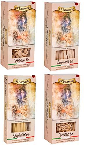 n.8 x 500g Pasta BIO Senatore Cappelli: n.2 Tortiglioni- n.2 Pappardelle n.2 Spaghettoni - n.2 Scialatelli