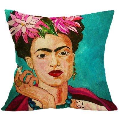 Li-an-ca Frida Caro Frau porträt Kissenbezug leinen Kissen Retro Stil Hause Kissenbezug 1 stücke (ohne Kissen)