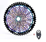 BIKECO MTB 11/12 velocidad Cassette 9-50T gran relación ultra ligera CNC Freewheel Rainbow Full Steel Bicicleta de...