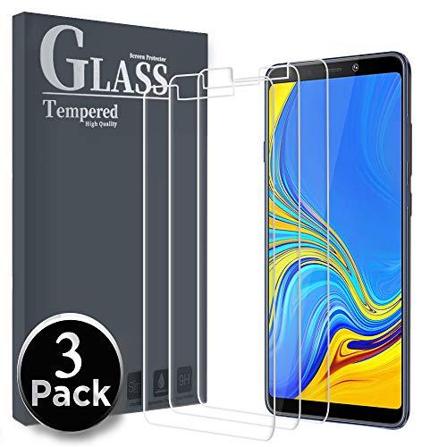 Ferilinso Panzerglas Schutzfolie für Samsung Galaxy A9 2018, [3 Pack] Gehärtetes Glas Displayschutzfolie für Samsung Galaxy A9 2018 (Transparent)
