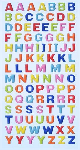 Avec Passion - Stickers adhésifs alphabet majuscule couleur vive
