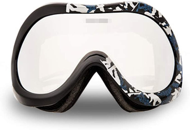 YJWOZ Ski Goggles Mountaineering Windproof Goggles Snow Mirror Cylinder Double Anti-fog Ski Glasses Ski goggles (color   C)