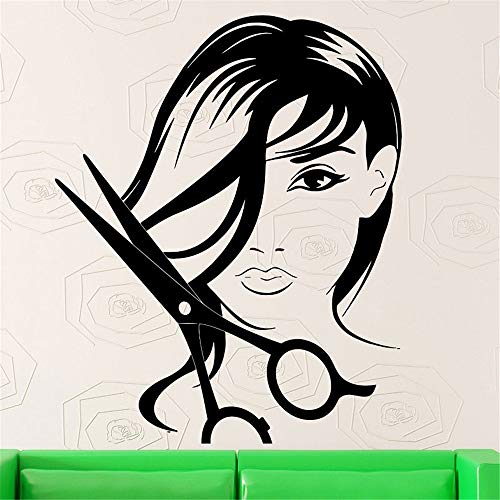 Friseursalon mode kurze haare mädchen friseursalon ation schere Wandaufkleber Kinderzimmer wandaufkleber 3d
