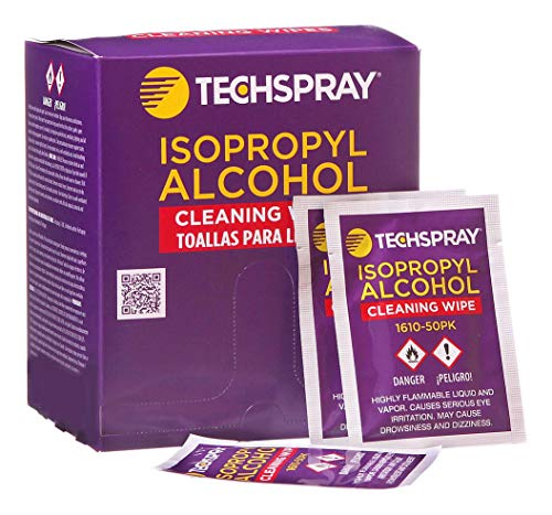Techspray 1610-50PK Isopropyl Alcohol (IPA) 99.8% Pre-Saturated Wipes
