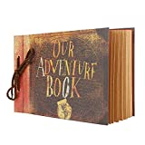 Photo Album Scrapbook, Our Adventure Book, Movie Up Travel Handmade Album DIY Photo Book Scrapbook for Anniversary, Wedding, Travel, Gift for Friend Handmade Albums with Stickers