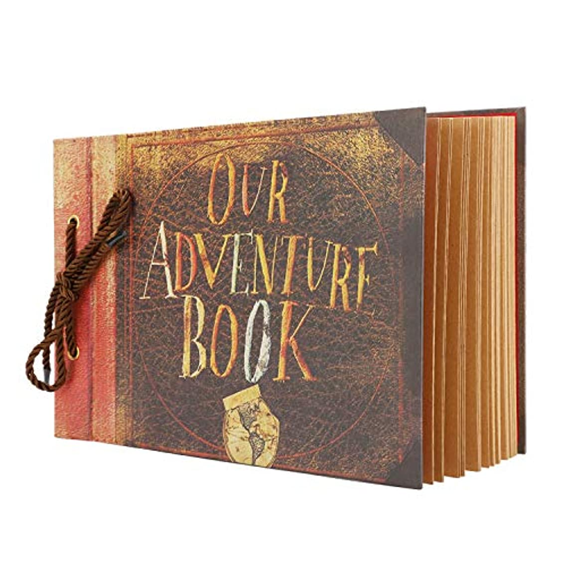 Our Adventure Book, Scrapbook Albums Anniversary Wedding Travel Handmade Scrap Book 11.6 x 7.5 Inches 40 Sheets 80 Pages DIY Photo Album