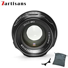 35 millimeter focal length and maximum aperture of f/1.2 Lens Construction:6 elements in 5 groups.This is a lightweiaght lens with a large aperture and compact size. Material: light aluminum body and durable copper core mechanics.Retro look, perfect ...