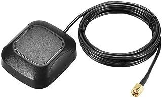 DyniLao GPS Active Antena SMA Macho Enchufe 28dB Cable Conector Aéreo Montaje Magnético 5 Metros