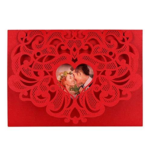 Fancylande uitnodigingskaarten voor bruiloften, 10 stuks