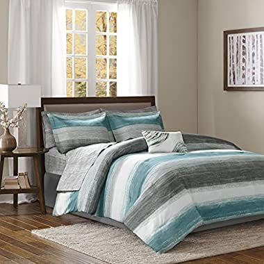 Madison Park Saben Comforter and Cotton Sheet Set