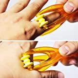 2 Pack Handheld Finger Massager Joints Mini Blood Circulation Plastic Massage Tool Wheel Relax Hand Articulations Arthritis Pain Relief