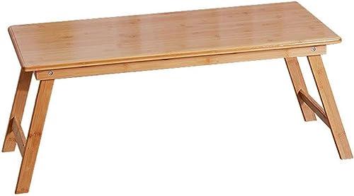 calidad auténtica XHCP Mesa Plegable Plegable Plegable Pequeña Mesas Bajas Cuadrado Portátil Sencillas Mesas de Comedor Dormitorio de bambú Hogar Madera Color (Color  Color de Madera, Tamaño  70x40x30cm)  mejor opcion