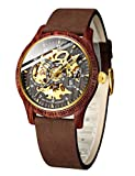 Mens Wooden Watches, Automatic Mechanical Wood Wrist Watch, Luxury...