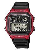 Casio Reloj Digital para Hombre de Cuarzo con Correa en Plástico AE-1300WH-4AVEF