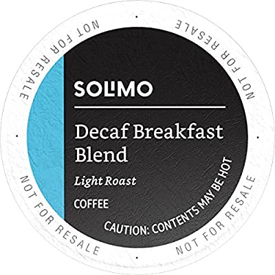 Amazon Brand - 100 Ct. Solimo Light Roast Coffee K-Cup Pods by Solimo