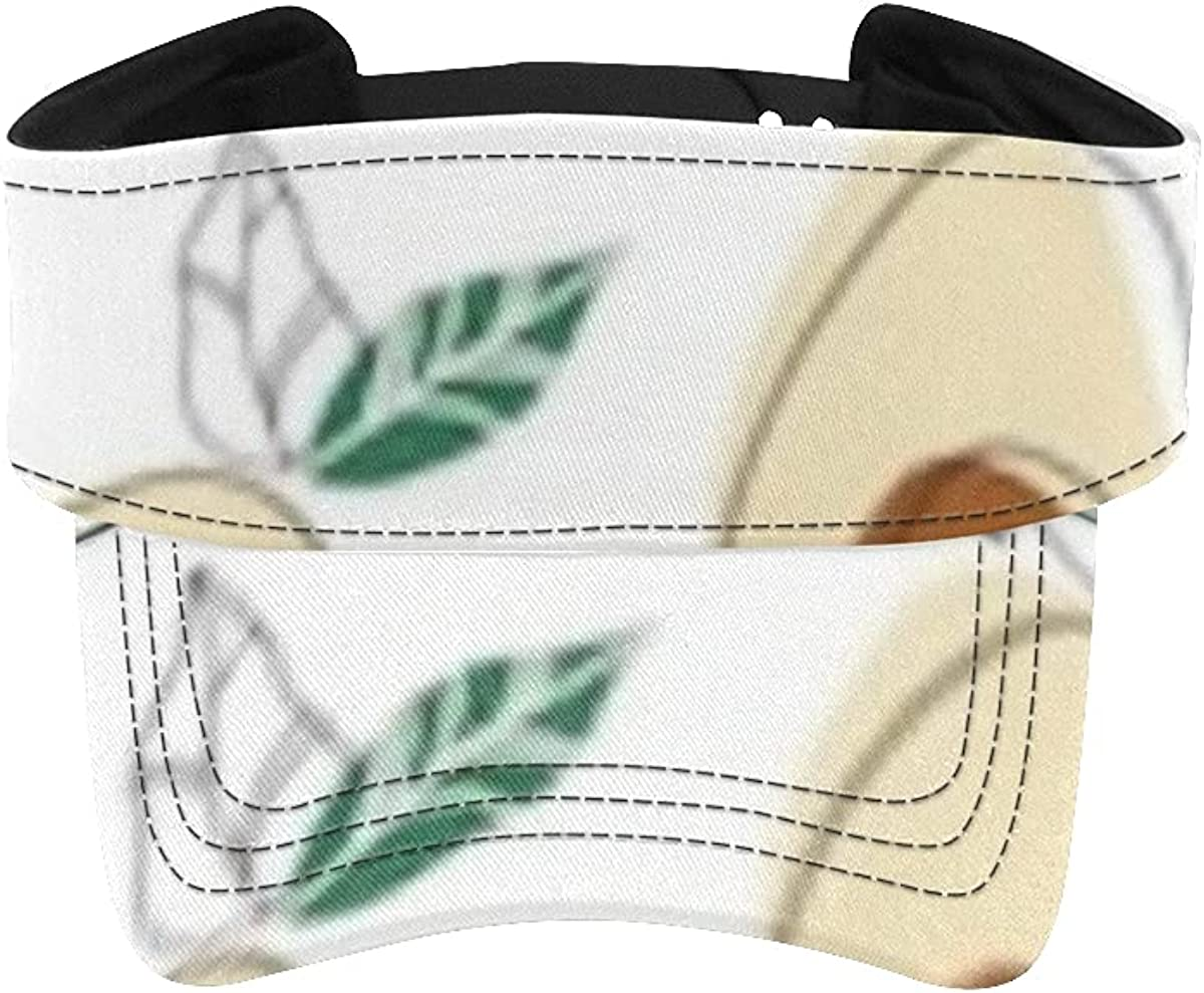 Sun Visor Hat Background Healthy Seamless Men Reservation Food Avocado Print New Free Shipping