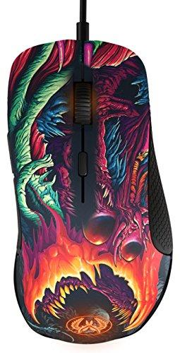 SteelSeries Rival 300, Optische Gaming-Maus, RGB-Beleuchtung, 6 Tasten, Gummierte seitliche Griffflächen, Farbe CS:GO Hyper Beast