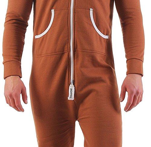 Gennadi Hoppe Herren Jumpsuit Onesie Jogger Einteiler Overall Jogging Anzug Trainingsanzug Slim Fit,Camel,XXX-Large - 5