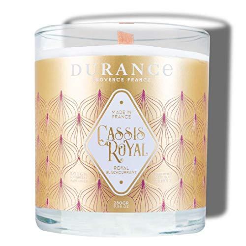 Durance - Vela con mecha de madera perfumada (aroma de cassis Royal