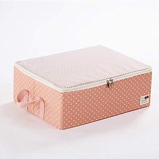 PPCP Cloth Dustproof Storage Box Folding Storage Box (Color : Orange)
