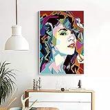 Póster artístico de Mariah Carey, pintura en lienzo impresa, arte de pared, decoración del hogar, 50X70cm, 20x28 pulgadas, sin marco