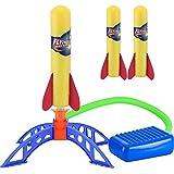 ZoneYan Cohete Juguete, Juguete Cohete de Aire, Cohete Juguete Lanzador, Juguete Lanzador de Cohetes, Aviones de Juguete Que Vuelan, Lanzador de Cohetes de Aire al Aire Libre