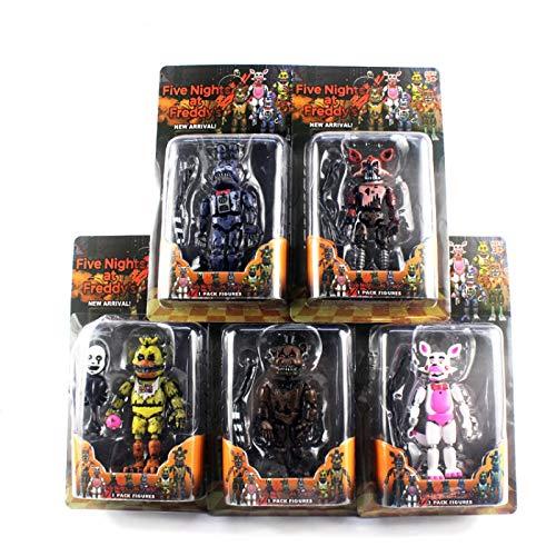 5 Pezzi / Set Alleggerimento Articolazioni Mobili Five Nights At Freddy'S Action Figure Toys Foxy Freddy Chica Pvc Model Dolls With Kids Toys14-19Cm