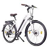 NCM Milano Bicicleta eléctrica de Trekking, 250W, Batería 48V 13Ah 624Wh (28' Blanco)
