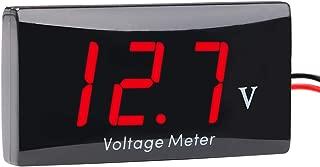 SEARON 12 Volt Digital Volt Meter Voltmeter Battery Indicator Gauge LED Display for Motorcycle Club Car Golf Cart EZGO Yamaha (Red LED)