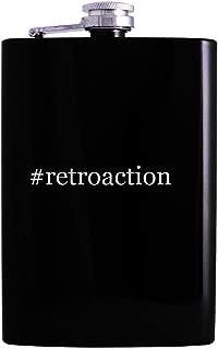 #retroaction - 8oz Hashtag Hip Alcohol Drinking Flask, Black