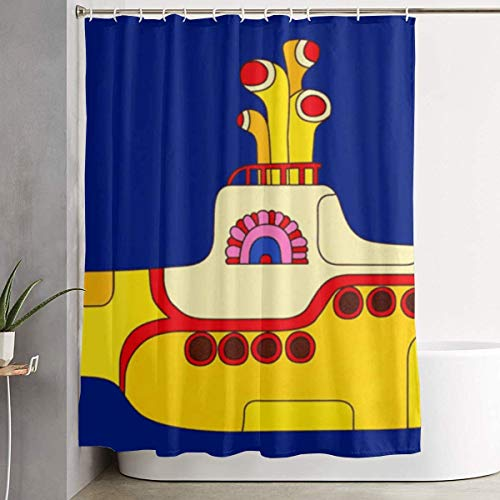 DHGER Cortina de la Ducha Yellow Submarine Printed Shower Curtains Waterproof Washable...