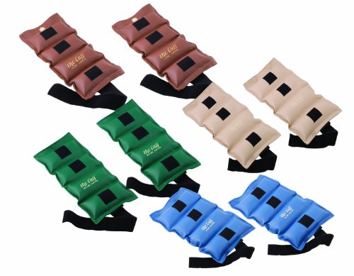 The Cuff Original Adjustable Ankle and Wrist Weight for Yoga, Dance, Running, Cardio, Aerobics, Toning, and Physical Therapy. 20 Piece Set - 2 each .25, .5, .75, 1, 1.5, 2, 2.5, 3, 4, 5 lb