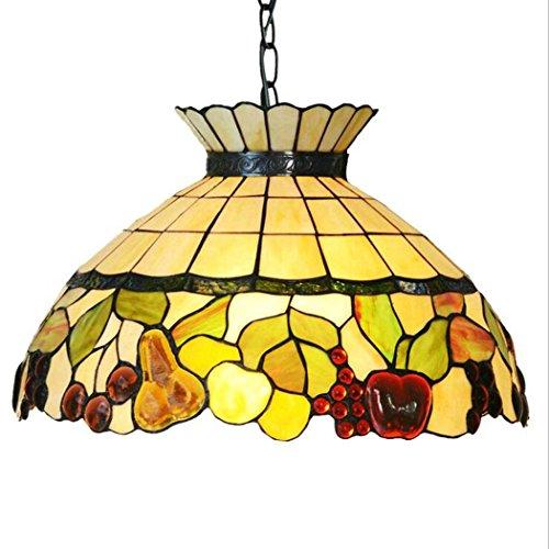 Lampada a Sospensione in Stile Tiffany, lampadario in Vetro da 18 Pollici con corone di Frutta, lampade a Sospensione da Ristorante Kronleuchter-11.19