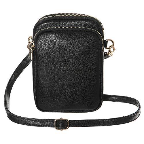 Crossbody purse for Women,HAIDEXI Small Crossbody Bags Cell Phone Purse women phone holder Smartphone purse For Women (C-Black) Buxton Mini Mini Bag