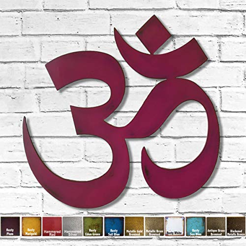 Yoga Namaste - Metal Wall Art Home Decor - Choose 7, 12, 17 or 24 wide, Choose your Patina Color and Choose from a Variety of Zen, Yoga and Buddhist Symbols