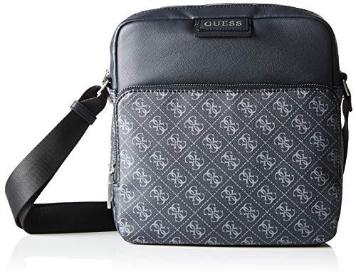 Guess Herren DAN Logo TOP Zip Crossbody Bags Briefcase, schwarz, Einheitsgröße