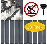 cocofy Anti-Rutsch Sticker fr Treppen auen und innen | 10x Streifen (61x10 cm) grau | Starker Halt dank Spezial-Outdoor-Oberflche | Rutsch-Schutz fr Treppenstufen | mit Montageroller