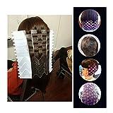 lzndeal profesional plástico salón–Tinte de Cabello de impresión placa DIY ola banda de cabello color modelo herramienta de tinte