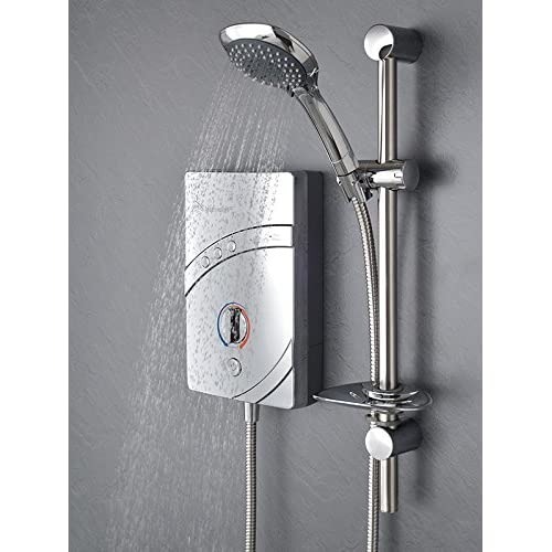 MX Inspiration QI Modern Chrome Electric Shower Set (9.5Kw)