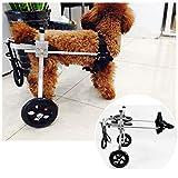 Hunderollstuhl Wheels Dog Für Tierhinter Beine Rehabilitation Scooter Pour Animaux Hund Rollstuhl Rollwagen Hunderollstuhl Fuir Große/kleine/mittlere Hunde Körperbehinderter Tierkarren 2 Räder(1-60kg)