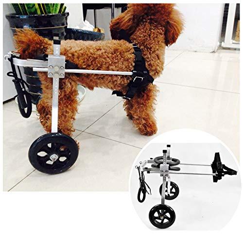 Sedia A Rotelle per Cane Carrello per Disabili Scooter per Animali Domestici Carrello per Cani Disabili con Ruote per Riabilitazione di Gambe di Animali Disabili Grande/Medio/Piccolo 2 Ruote(1-60kg)