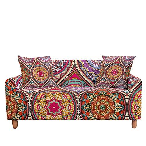 WXQY Funda de sofá elástica Jacquard, Funda de sofá Mandala, Funda de sofá Modular, Funda de protección de Muebles A9 4 plazas