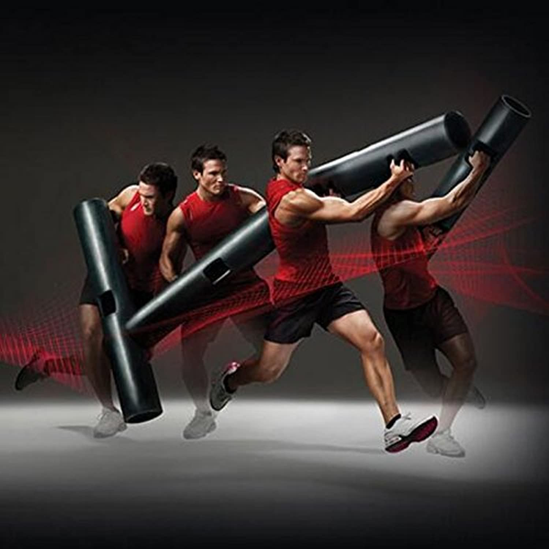 LivePro POWER BARBEL 4 kg functional loading equipment professional fitness exercise barrel training equipment rubber cylinder