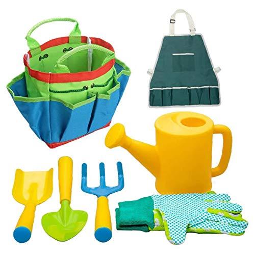 Herramientas de jardinería para niños Playa de los Cabritos Caja de Arena Juguetes Set Equipo de Jardinería Rake Spade Conjunto de plástico al Aire Libre Regalos 7PCS