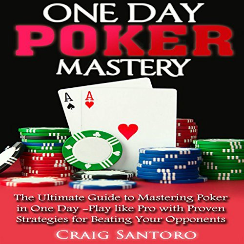 One Day Poker Mastery audiobook cover art