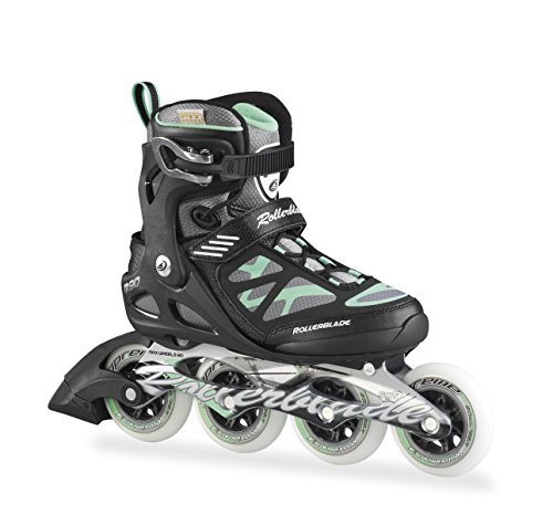 Rollerblade Damen Inlineskate Macroblade 90 W, Black/Light Green, 40.5, 07355500 824