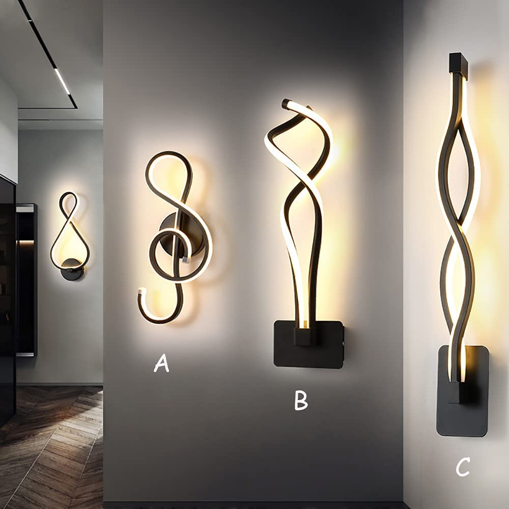 YQGOO 22W Music Symbol Creative Animer and price revision LED Lamp Art Livin Wall specialty shop Deco for