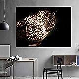 Poster Bilder Rückblick Leopard Poster Drucke Leinwand